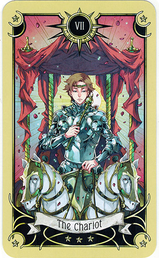 Ý nghĩa lá The Chariot trong bộ bài Mystical Manga Tarot