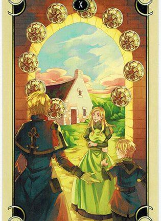 Lá Ten of Coins – Mystical Manga Tarot