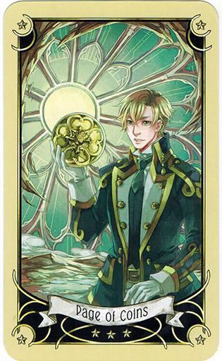 Ý nghĩa lá Page of Coins trong bộ bài Mystical Manga Tarot