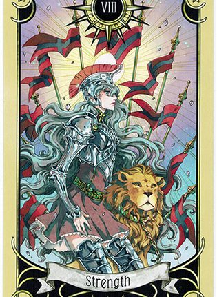 Lá Strength – Mystical Manga Tarot