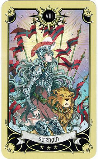 Ý nghĩa lá Strength trong bộ bài Mystical Manga Tarot