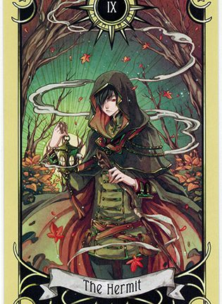 Lá The Hermit – Mystical Manga Tarot