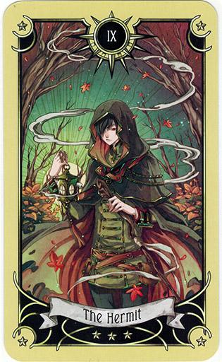 Ý nghĩa lá The Hermit trong bộ bài Mystical Manga Tarot