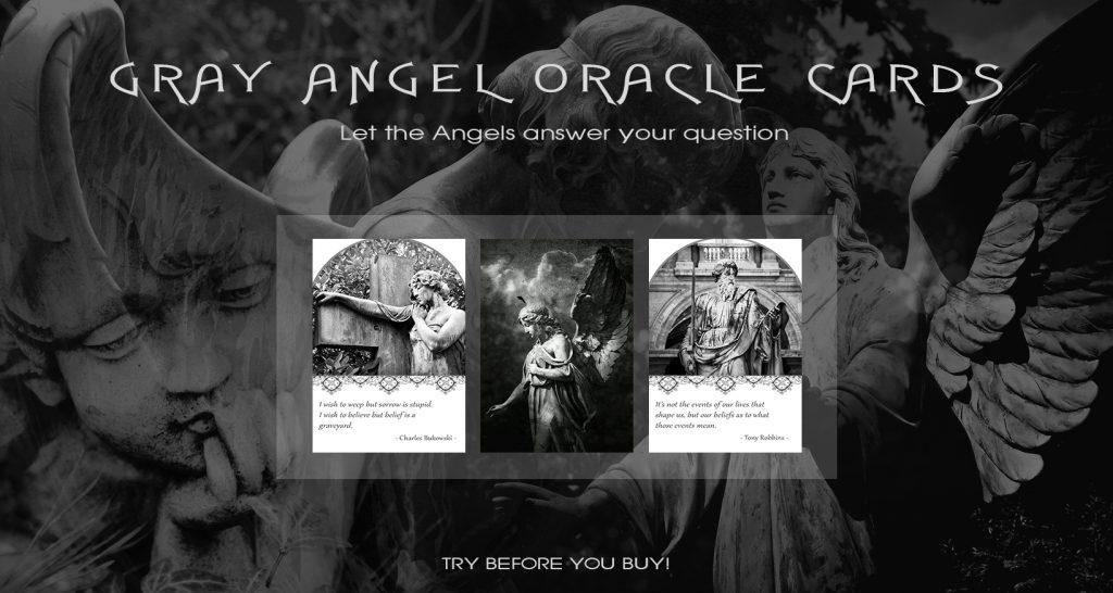 Gray Angel Oracle Cards - một dự án bộ bài Oracle tự làm của mình<br /> Ảnh: Nguyễn Hiếy