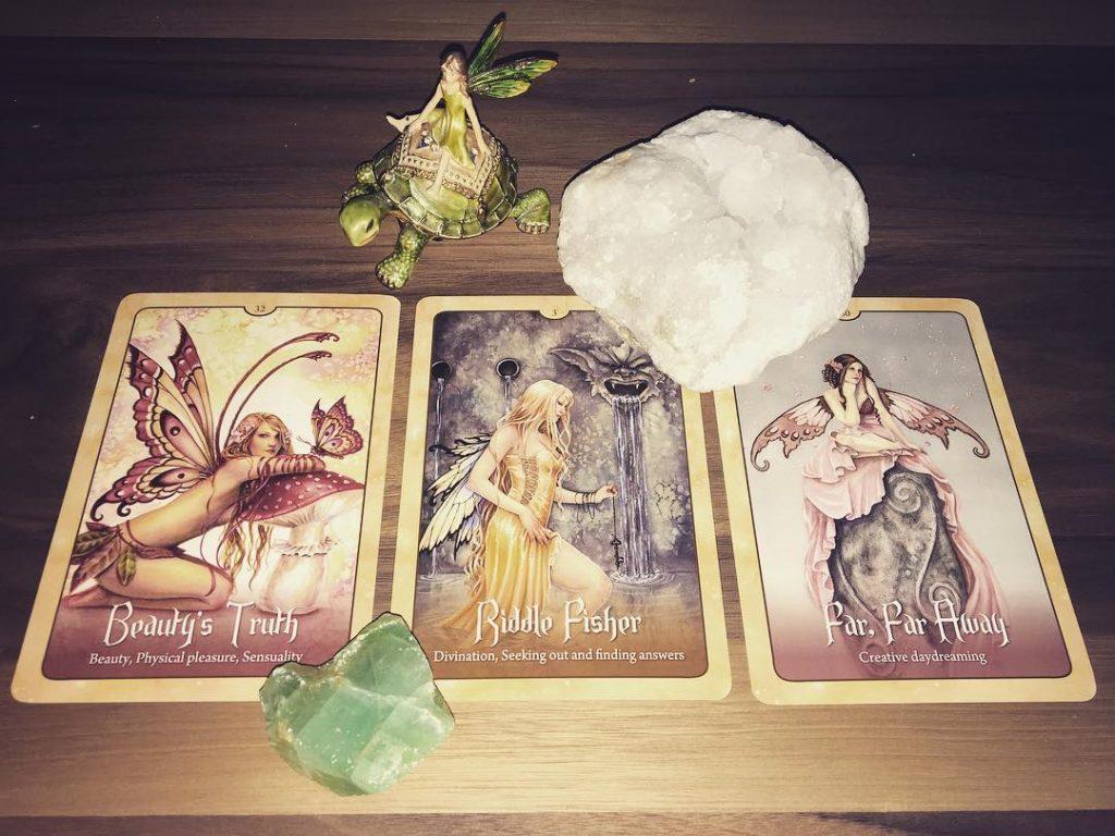 Ảnh: @followthewindreadings, bộ bài: Wild Wisdom Of The Faery Oracle