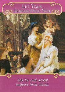 Romance Angels Oracle - Lá Bài Let Your Friends Help You 1