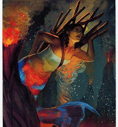 Mermaid Tarot – 10 of Wands
