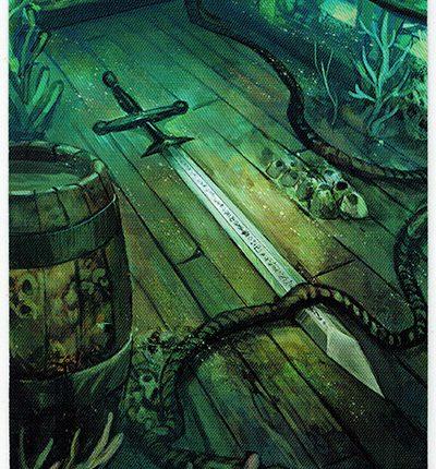Mermaid Tarot – Ace of Swords