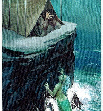 Mermaid Tarot – 9 of Swords