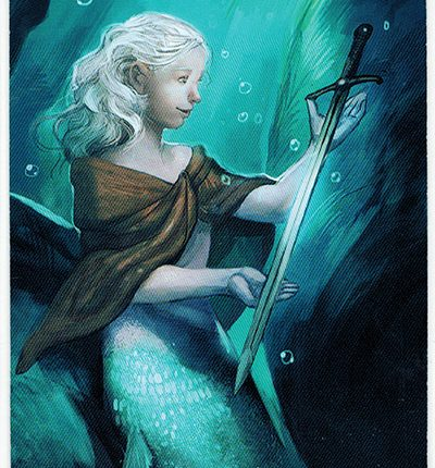 Mermaid Tarot – Page of Swords