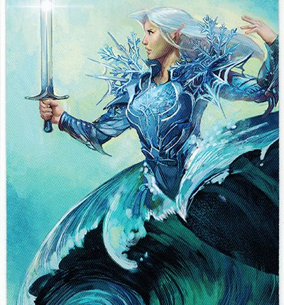 Mermaid Tarot – Knight of Swords
